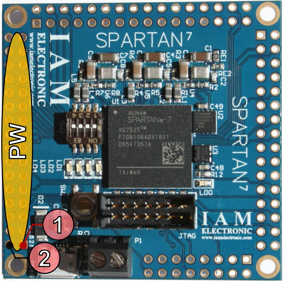 Fpga Board With Xilinx Spartan 7 Digilent Jtag Cable Schematic Usb Module Pw Connector