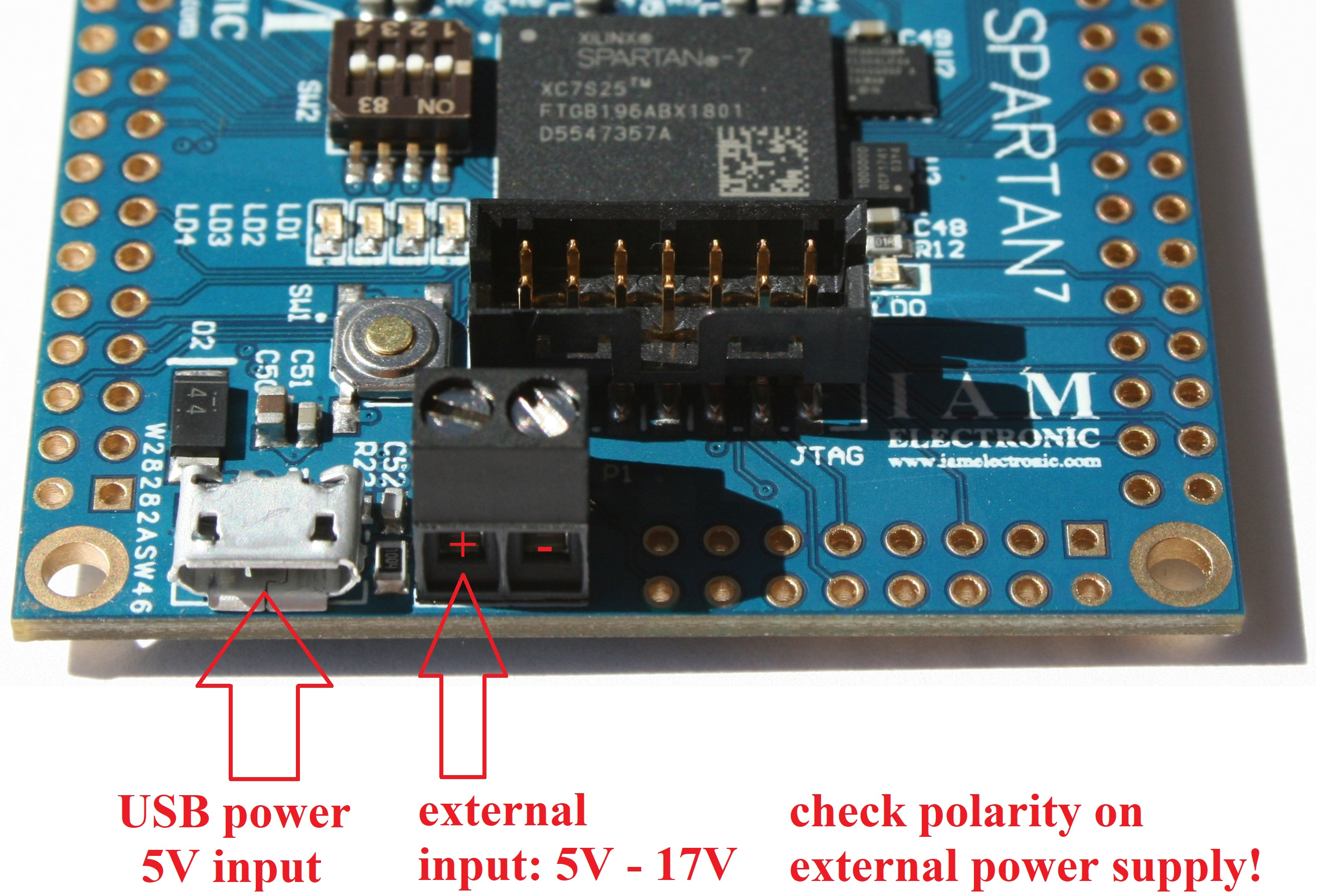 Fpga Board With Xilinx Spartan 7 Usb Power Supply Schematic And Screw Terminal
